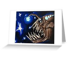 Angler Fish in the Stars  Greeting Card