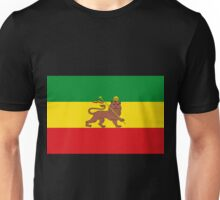 Custom Rastafarian Flag of Ethiopia Lion of Judah Unisex T-Shirt