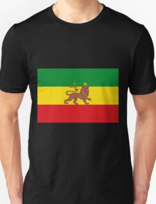 Custom Rastafarian Flag of Ethiopia Lion of Judah T-Shirt