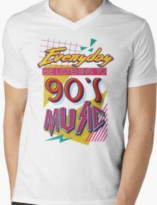 90's Music Mens V-Neck T-Shirt