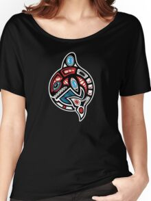 Orca Shamanic Animal Motif Women's Relaxed Fit T-Shirt