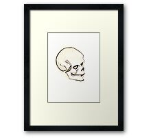 Sarcastic Skull Framed Print