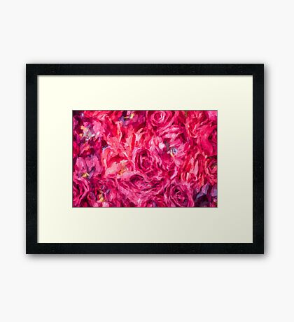 Abstract Red Rose painting Framed Print