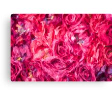 Abstract Red Rose painting Canvas Print
