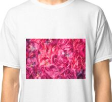 Abstract Red Rose painting Classic T-Shirt