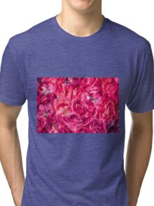 Abstract Red Rose painting Tri-blend T-Shirt
