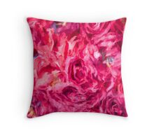 Abstract Red Rose painting Throw Pillow