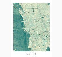 Manila Map Blue Vintage Unisex T-Shirt