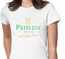 St Patrick's Day Irish Princess Faded Womens Fitted T-Shirt