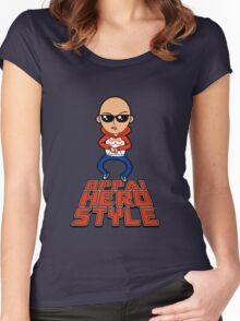 Oppai Hero Style Women's Fitted Scoop T-Shirt