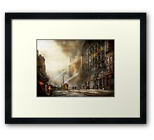 Fireman - Brooklyn NY - Surprise 1909 Framed Print