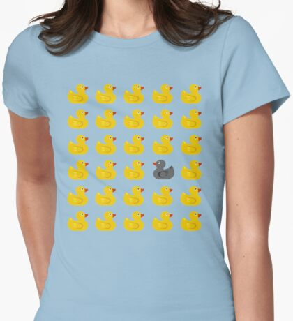 RUBBER DUCK Womens Fitted T-Shirt