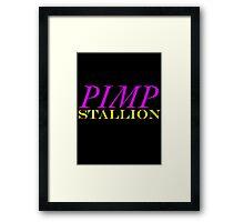 Pimp Stallion Framed Print