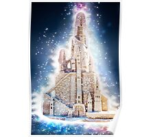 Glowing Fantasy Sand Castle Poster