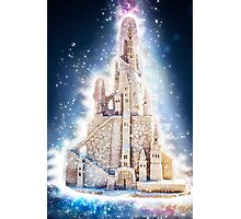 Glowing Fantasy Sand Castle Photographic Print