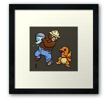 Pokemon Fire Starter Framed Print