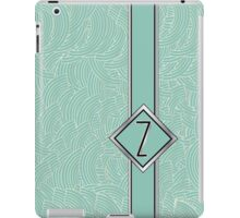 1920s Blue Deco Swing with Monogram letter Z iPad Case/Skin