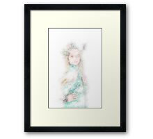 illustration Greek Goddess On white Background Framed Print
