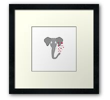 Elephant of love Framed Print