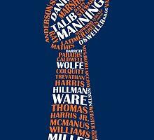 Denver Broncos - Super bowl 50 champions - typography - dark by twyland