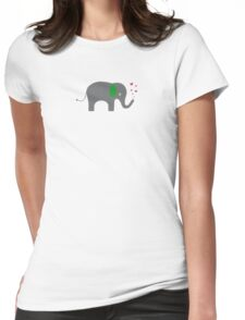 Elephant of love Womens Fitted T-Shirt