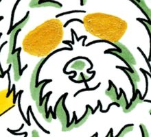 Westie, colorful and crazy Sticker