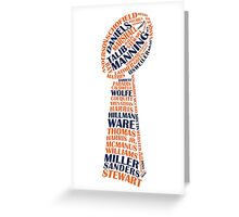 Denver Broncos - Super bowl 50 champions - typography - two colors Greeting Card
