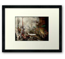 Fireman - New York NY - Big stink over ink 1915 Framed Print