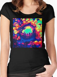 Retro Sphere of Reflections Women's Fitted Scoop T-Shirt