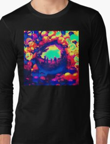 Retro Sphere of Reflections Long Sleeve T-Shirt