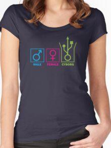 Gender Identification Women's Fitted Scoop T-Shirt