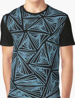 Spiral Triangle Black bg Graphic T-Shirt