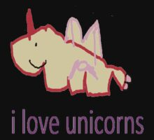 i love unicorns  Baby Tee