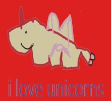 i love unicorns  Kids Tee