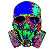 Toxic skull (blue) Photographic Print