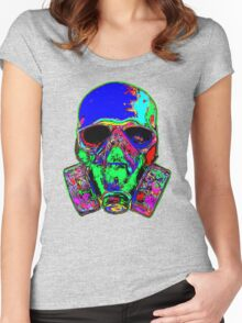 Toxic skull (blue) Women's Fitted Scoop T-Shirt