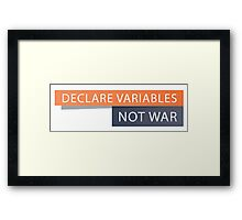 Declare Variables Framed Print