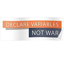 Declare Variables Poster