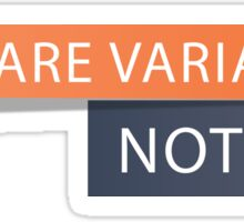 Declare Variables Sticker