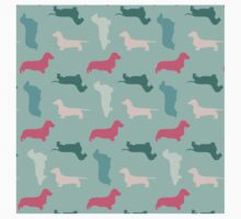 """Frosty"" Dachshund Pattern Kids Tee"
