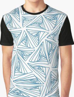 Spiral Triangle White bg Graphic T-Shirt