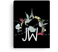 JW (Jazzy in Wonderlust) Canvas Print