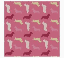 """Raspberry"" Dachshund Pattern One Piece - Short Sleeve"