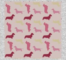 """""""Cotton Candy"""" Dachshund Pattern One Piece - Long Sleeve"""