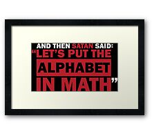 Alphabet in Math Framed Print