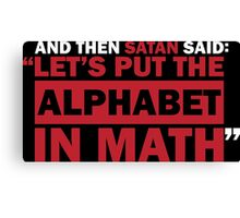 Alphabet in Math Canvas Print