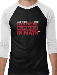 Alphabet in Math Men's Baseball ¾ T-Shirt