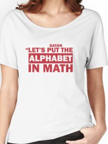 Alphabet in Math Women's Relaxed Fit T-Shirt