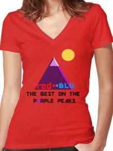 Red-Blu: The Best on the Purple Peaks Women's Fitted V-Neck T-Shirt