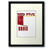 Red Five Framed Print